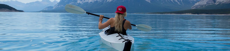 Kayaker on lake